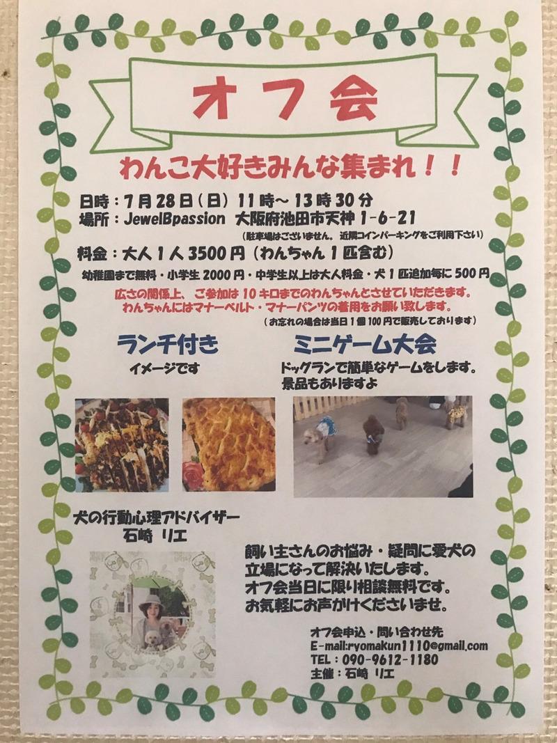 大阪府池田市 涼しい店内で一緒に遊ぼう わんこオフ会 ペットと一緒